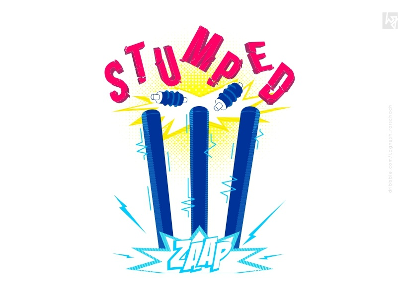 #Stumped print tshirt tamil india print design cricket blue vector 2019 graphic graphic  design