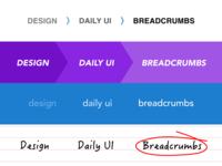 Daily UI Challenge 056 - Breadcrumbs