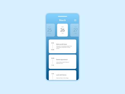 Daily UI Challenge 071 -Schedule dailyui ui design