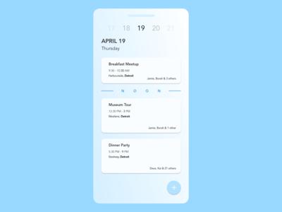 Daily UI Challenge 078 - Itinerary dailyui ui design