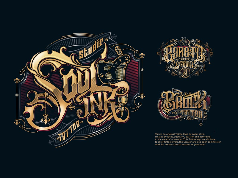 Logo type tattoo ornament typhography tattoo logo tattoo logo sketch ink lettering handlettering concept branding