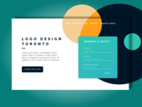Landing Page Website Design Concept