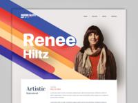 Artist Portfolio Website Concept