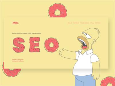 Mmm Donuts: Homer Simpson SEO Landing Page Website Design