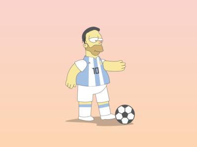 Homer Simpson x Lionel Messi Soccer Parody Mashup