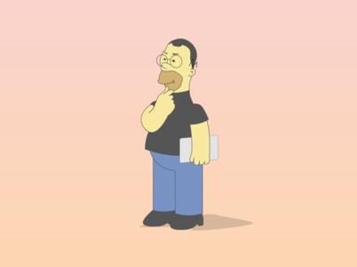 Homer Simpson x Steve Jobs