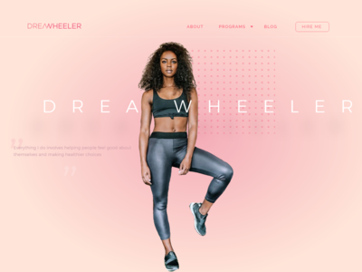 Web Design Concept for Fitness Influencer