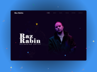 Landing Page for Music Recording Artist