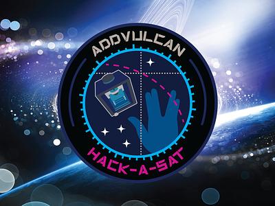 ADDVulcan Hack-A-Sat team logo branding adobe illustrator logo