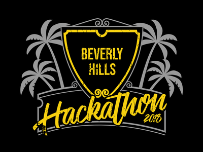 NBCUniversal Beverly Hills Hackathon event marketing shirt design corporate branding vector adobe illustrator logo print illustration