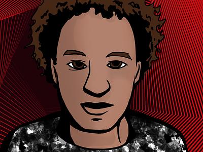 Marcus Hutchins aka MalwareTech magazine design adobe photoshop illustration portrait