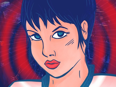 Hackers movie fan art art anime illustration adobe photoshop
