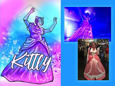 Kittly sticker adobe photoshop portrait illustration