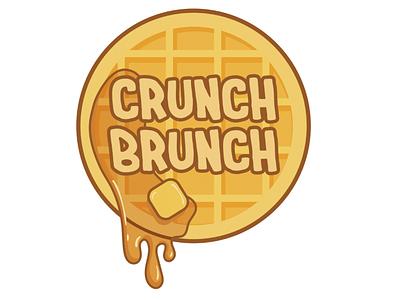Crunch Brunch Logo adobe illustrator vector logodesign logo