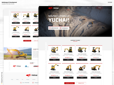 Webdesign of Yuchai Czech ui ux designer web website design webdesign