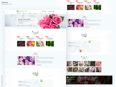 Webdesign of horticulture & florist's Poledne webdesigner website design web