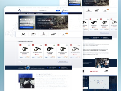 VAMOT - Ecommerce with towing devices webdesigner webdesig design graphic website ui ux designer ui ux designer for hire webdesign