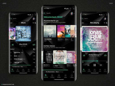 Mobile Music App ui ux designer uidesign designer for hire ux music app music webdesign app ui  ux ui