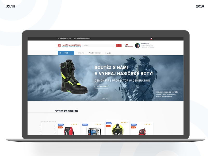 Store with Accessories for Firefighters webdesign designer for hire ui ux designer ui uidesign ecommerce eshop