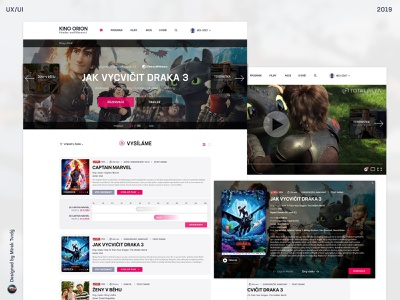 Cinema Orion - Hradec nad Moravicí 2d designer for hire design ui ux designer movie booking movie cinema ux ui webdesign