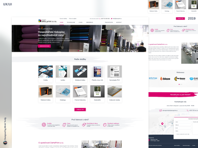 Printing house DaMa print s.r.o. web branding ui ux designer ux webdesign design ui designer for hire
