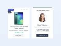 Samsung product view & help banner