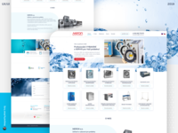 Webdesign for Meron - equipment for laundry systems