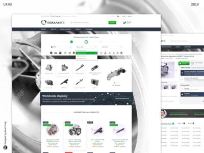 E-commerce design/ Webdesign of RemanteShop