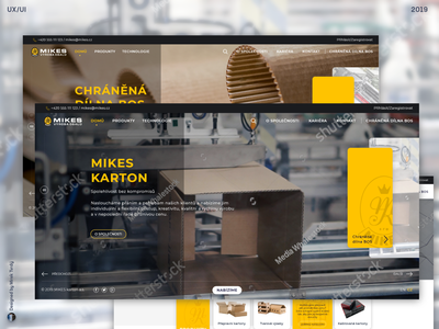 Webdesign of MikesKarton project uidesign design ux ui webdesigner webdesign