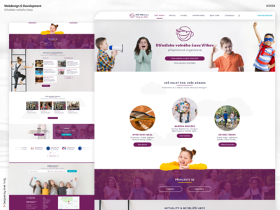 Webdesign of leisure center in Vítkov