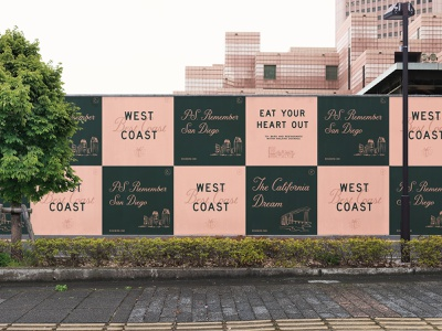 Rose Bird branding typography lettering billboard illustration campaign