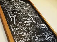 Hand Lettered Chalkboard - Storyboard