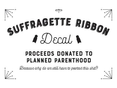 Suffragette Label Decals