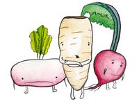 Sad Root Veggies
