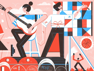 How Rome Squats Have Revolutionised Youth Culture - Culture Trip travel rome illustration editoral design colour print editorial illustration