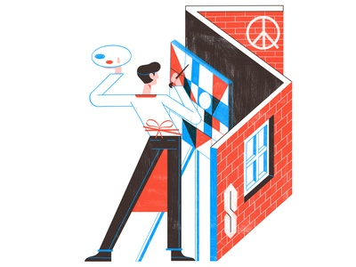 How Rome Squats Have Revolutionised Youth Culture - Culture Trip travel rome editorial illustration editoral design colour print editorial illustration architecture