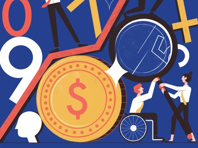 Ethical Investing money business investing finance editoral design colour print editorial illustration