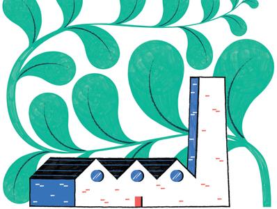 Singapore trade - Silverkris Magazine architecture illustration editoral design colour print editorial illustration