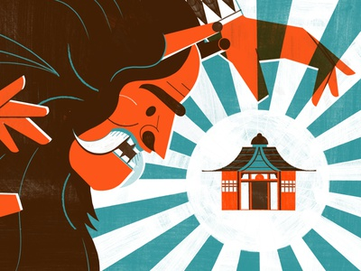 The Legend of Namahage - Culture Trip travel illustration editoral design colour print editorial illustration