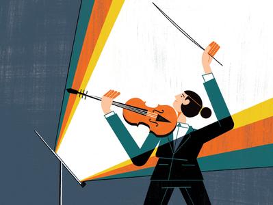 BBC Music Magazine music illustration editoral design colour print editorial illustration