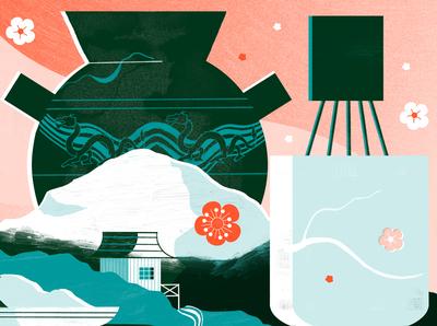 Wabi Sabi  The Japanese Art of Finding Perfection - Culture Trip japan travel illustration editoral design colour print editorial illustration