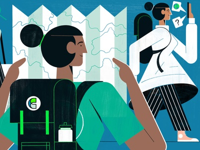 Mystery Destination Emailer - Culture Trip editorial travel illustration editoral design colour print editorial illustration