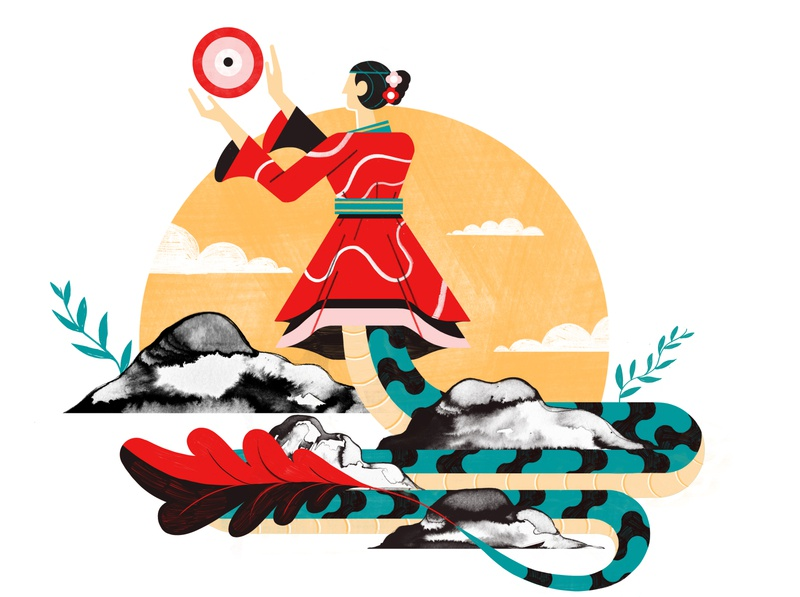 Chinese Myths and Legends - Culture Trip legends myths china illustration editorial travel design colour print editorial illustration