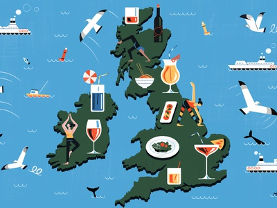 The London Bar Giving Non Drinkers - Culture Trip cocktails beverage food travel illustration editoral design colour print editorial illustration