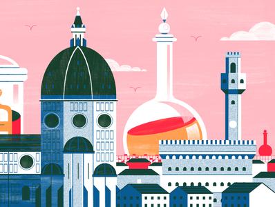florentine pharamacies through history - Culture Trip florence travel food architecture illustration editoral design colour print editorial illustration