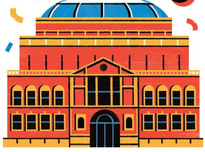 BBC s Proms 2020 - Radio Times music food travel architecture illustration editoral design colour print editorial illustration
