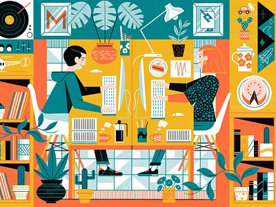 Studio Portrait - Maraid Design editorial illustration editoral design colour print editorial illustration
