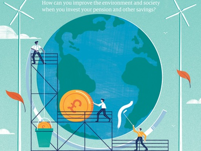 Planet papers - Rathbones Bank environment finance money illustration editoral design colour print editorial illustration