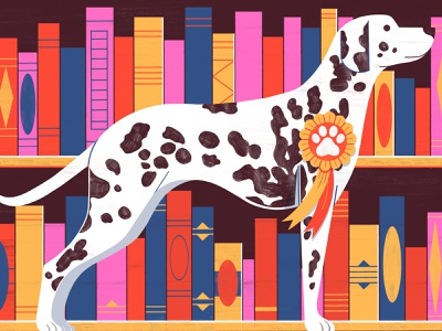 Top Ten Dogs in Fiction - Penguins Books dogs animals illustration design colour print editorial illustration