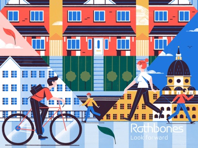 Cities to the Rescue - Rathbones Planet Papers Magazine illustration editoral design colour print editorial illustration